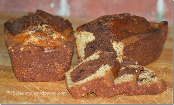 chocolate banana crunch bread from FHElessons.wordpress.com