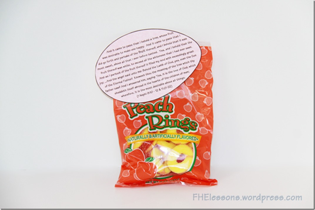 a scripture to go with any fruity candy for a Christ centered Easter basket