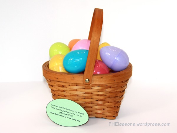 Christ centered easter baskets family home evening lessons a scripture to go with plastic eggs in a christ centered easter basket negle Images