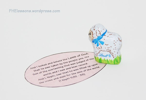 Christ centered easter baskets family home evening lessons chocolate lamb in a christ centered easter basket negle Images