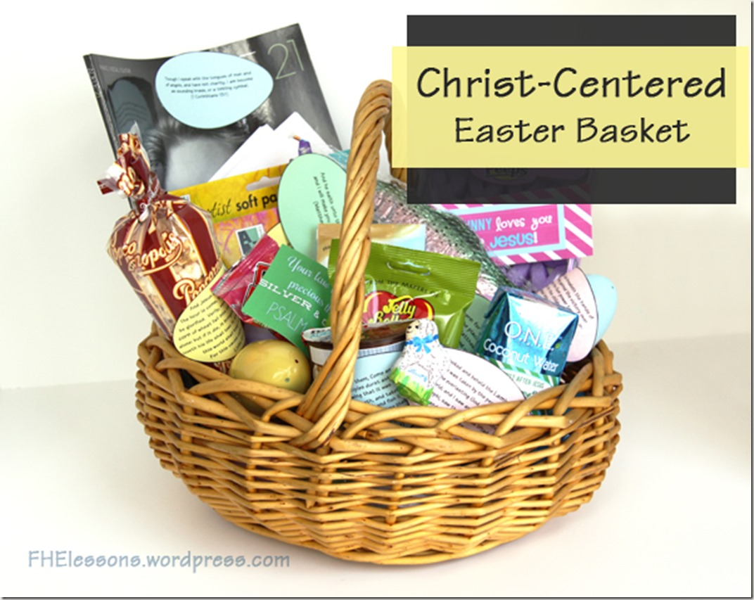 Christ centered Easter basket with free printables