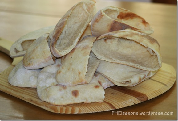 homemade pita bread for a passover style easter dinner from fhelessons.wordpress.com