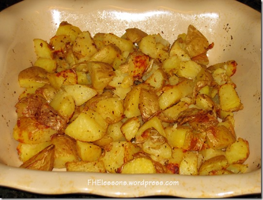spicy potatoes for a passover style easter dinner from fhelessons.wordpress.com