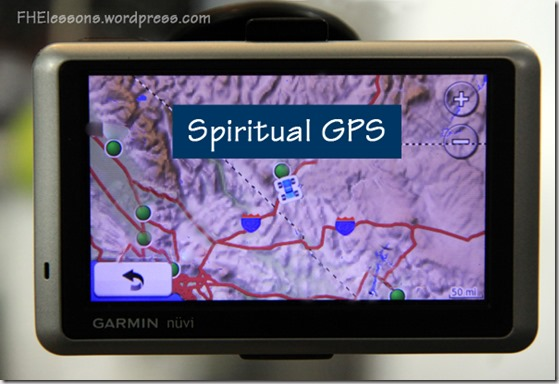 an FHE lesson on agency using spiritual GPS