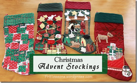 Christ centered advent stockings