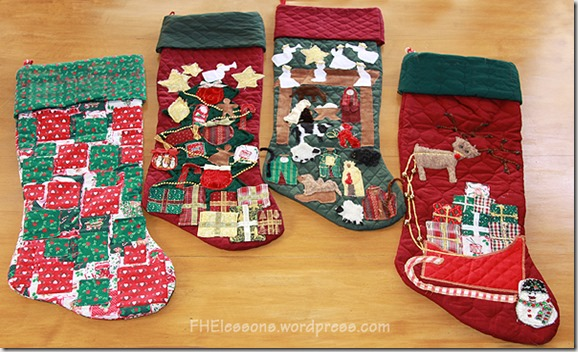 Christmas advent stockings