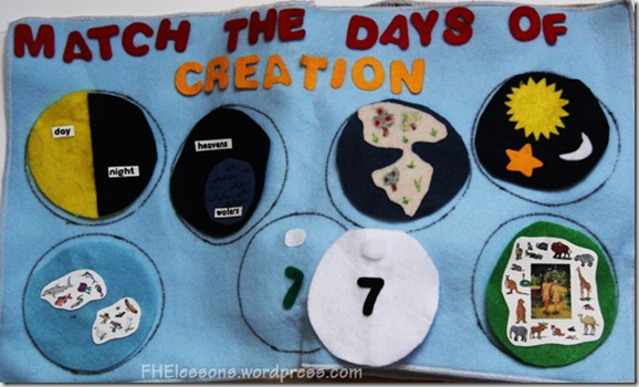 match the days of creation