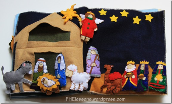 nativity quiet book page