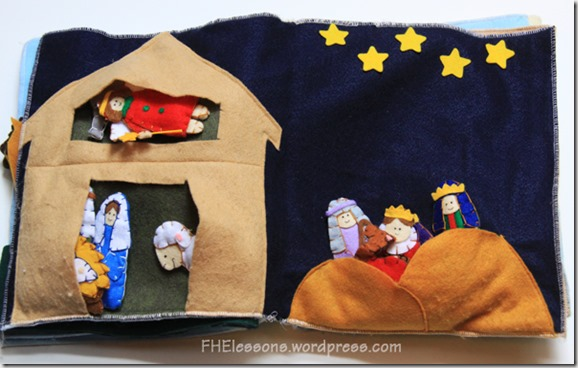 nativity scene quiet book page
