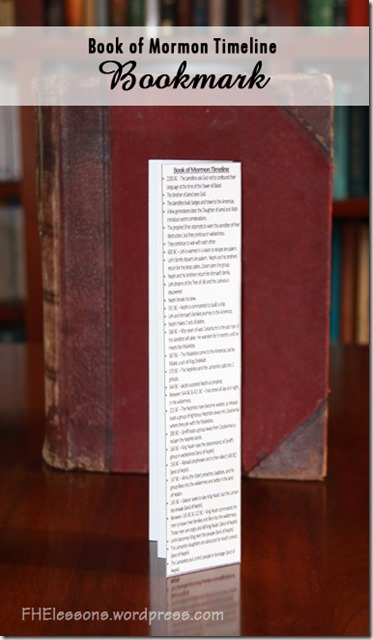 Book of Mormon time line Bookmark