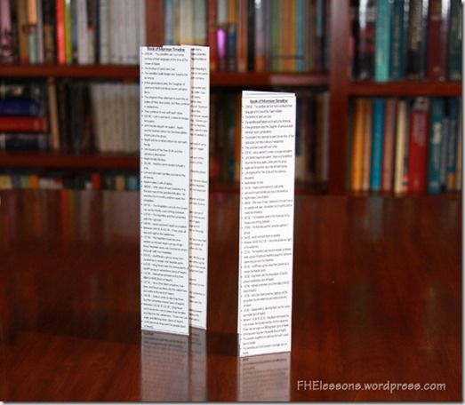 Large and small timeline bookmarks