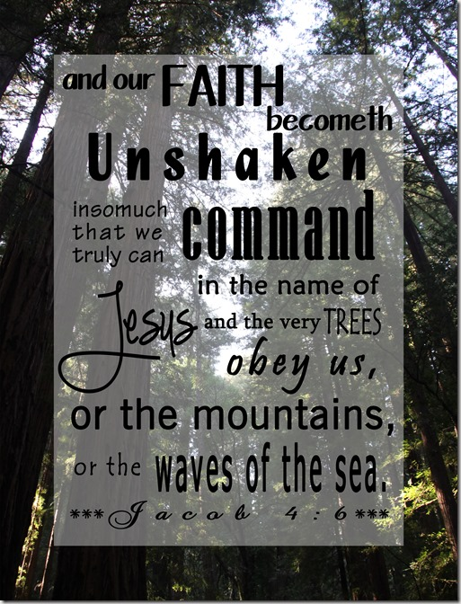 our faith becometh unshaken