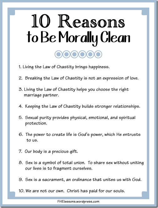 10 Reasons to Be Morally Clean