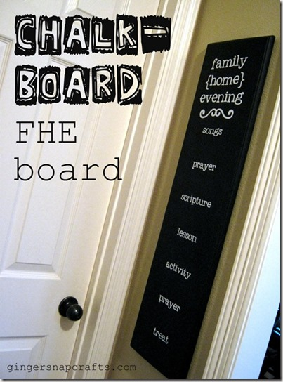 Chalkboard FHE Chart from GingersnapCrafts