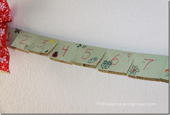 Hand drawn construction paper Advent calendar